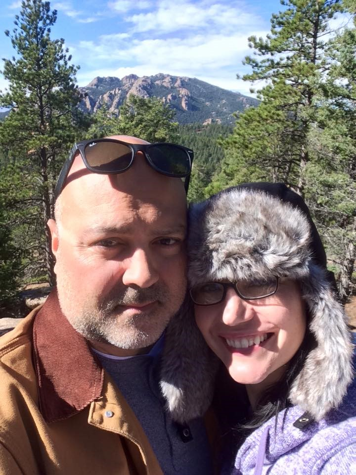 Jamison and his wife, Sarah, 4x4'ing and camping in Colorado. They're about 10k feet up in the mountains with 'Devil's Head' behind them... being digitally connected is not mutually exclusive to an off-the-grid outdoor life.