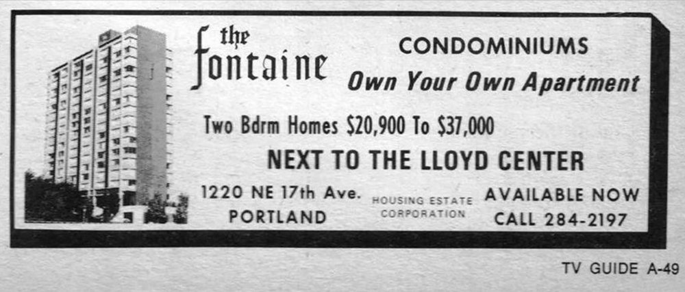 The Fontaine was built in 1963 as an apartment building and converted to condos in 1972.