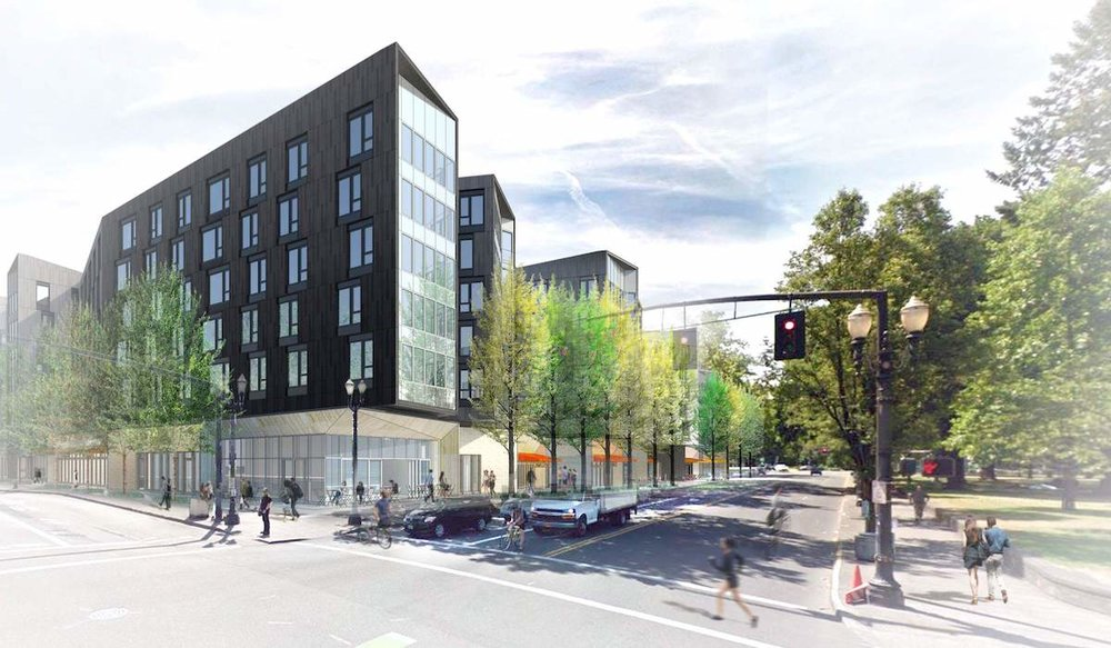 Proposed development, such as this project at NE 15th and Multnomah in Lloyd Center will impact the Sullivan's Gulch neighborhood as well