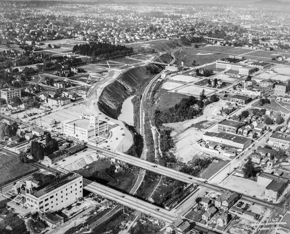 Aerial view Looking east over future Banfield site OHS   bb015409