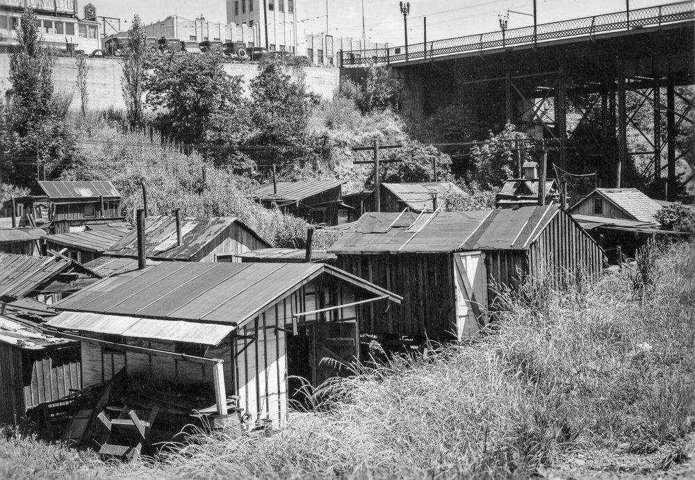 """1941 Sullivan's Gulch """"Hooverville"""" OHS   bb008813"""