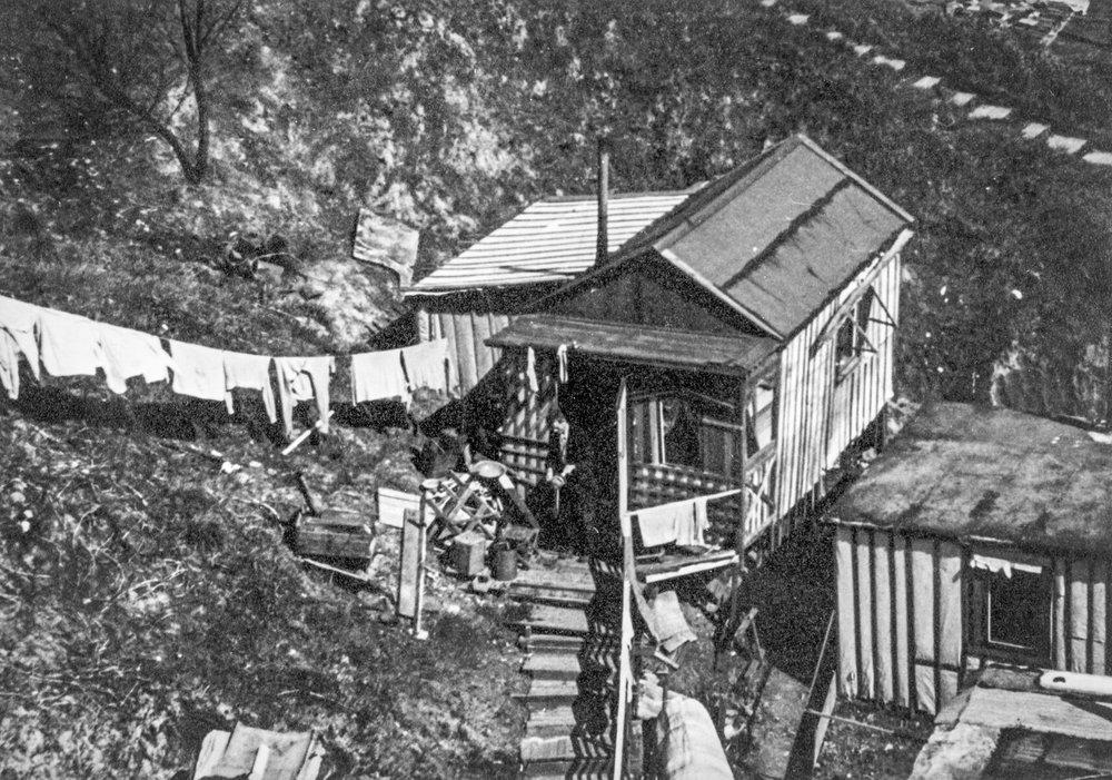 """c. 1941 Sullivan's Gulch """"Hooverville"""" OHS   bb015406"""