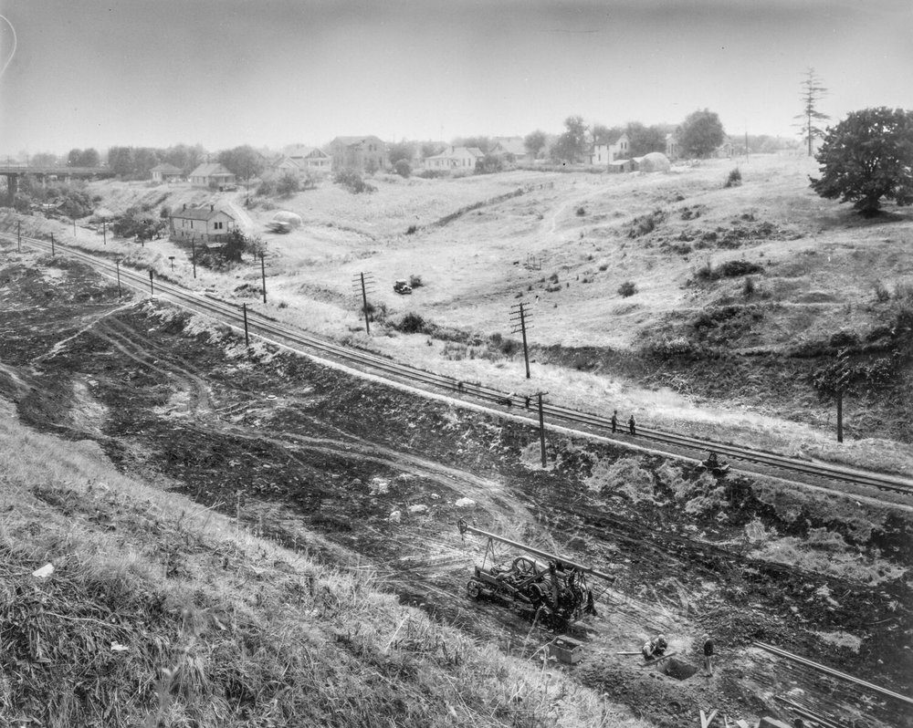 c.1880 Union Pacific railroad in the Gulch OHS   bb015410