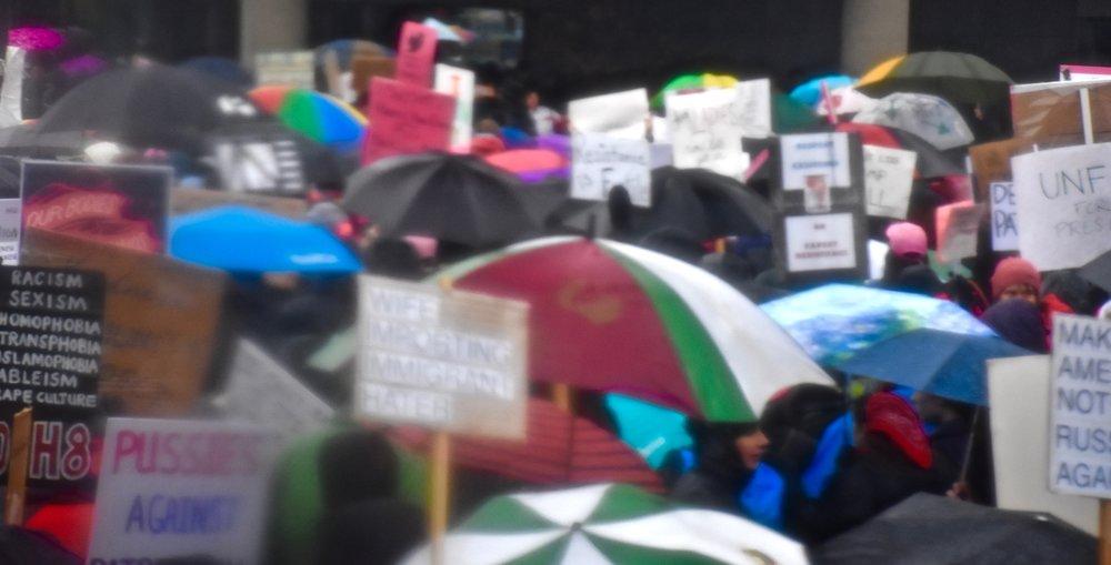 Portland Women's March, 2017. Photo courtesy of Meg Vogt.