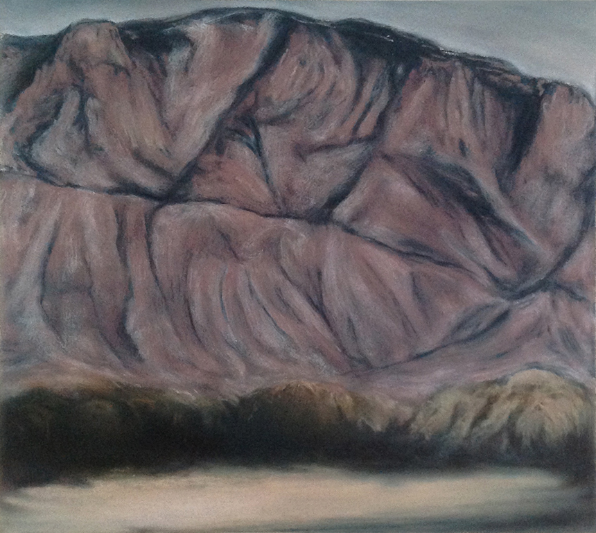 SANDIA MOUNTAIN 1987 20 x 22 inches © 2016, Michael Kirk all rights reserved