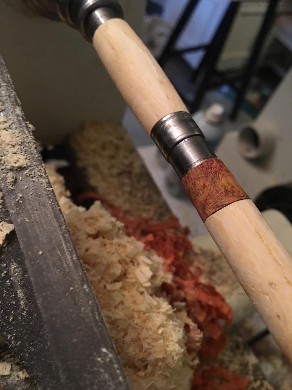 Lathe in Progress (Close Up)