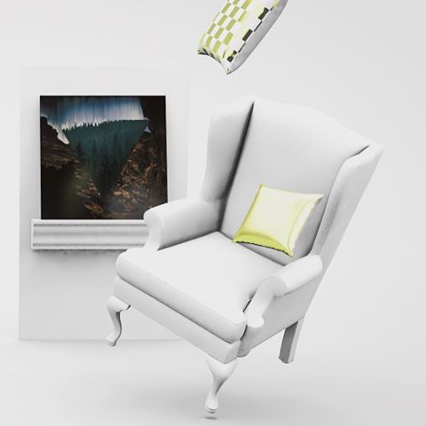 That chair is excited!  I've been playing around and Cinema 4D today. So fun