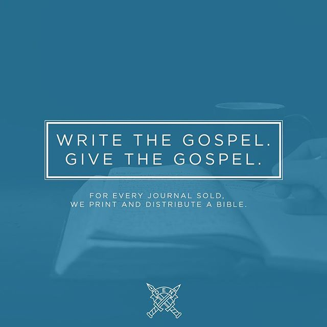 Did you know that for every journal sold, we print and distribute a Bible? Learn more about our mission to give the Gospel at DoubleEdgedNotes.com. #Bible #Journal #Gospel #Missions #Jesus