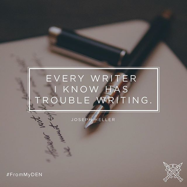 Everyone who journals has experienced times when it is a struggle to put pen-to-paper. When those moment come — push through & keep writing. #journaling #pen #paper #FromMyDEN