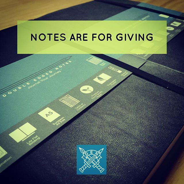 Get one Double Edged Notes Journal for yourself and one for a friend and Journal Your Journey together!  Great for mission trips, getaways or just living life! #journal #biblestudy #missions #missiontrip #journalingbible #journaling