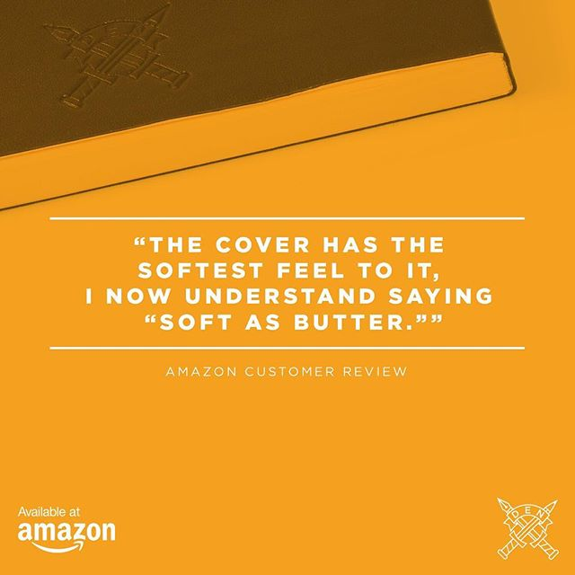 DEN Journalers love the soft feel of the journal's leather cover. Grab a journal and try it for yourself. #Amazon #CustomerReview #journal