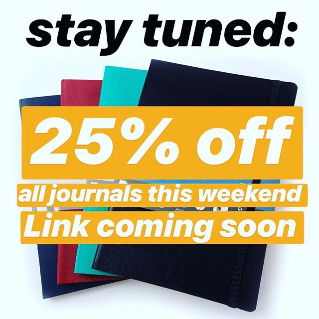 Coming soon, a Thanksgiving weekend sale on all Double Edged Notes journals. This is the biggest discount of the year so don't miss it!