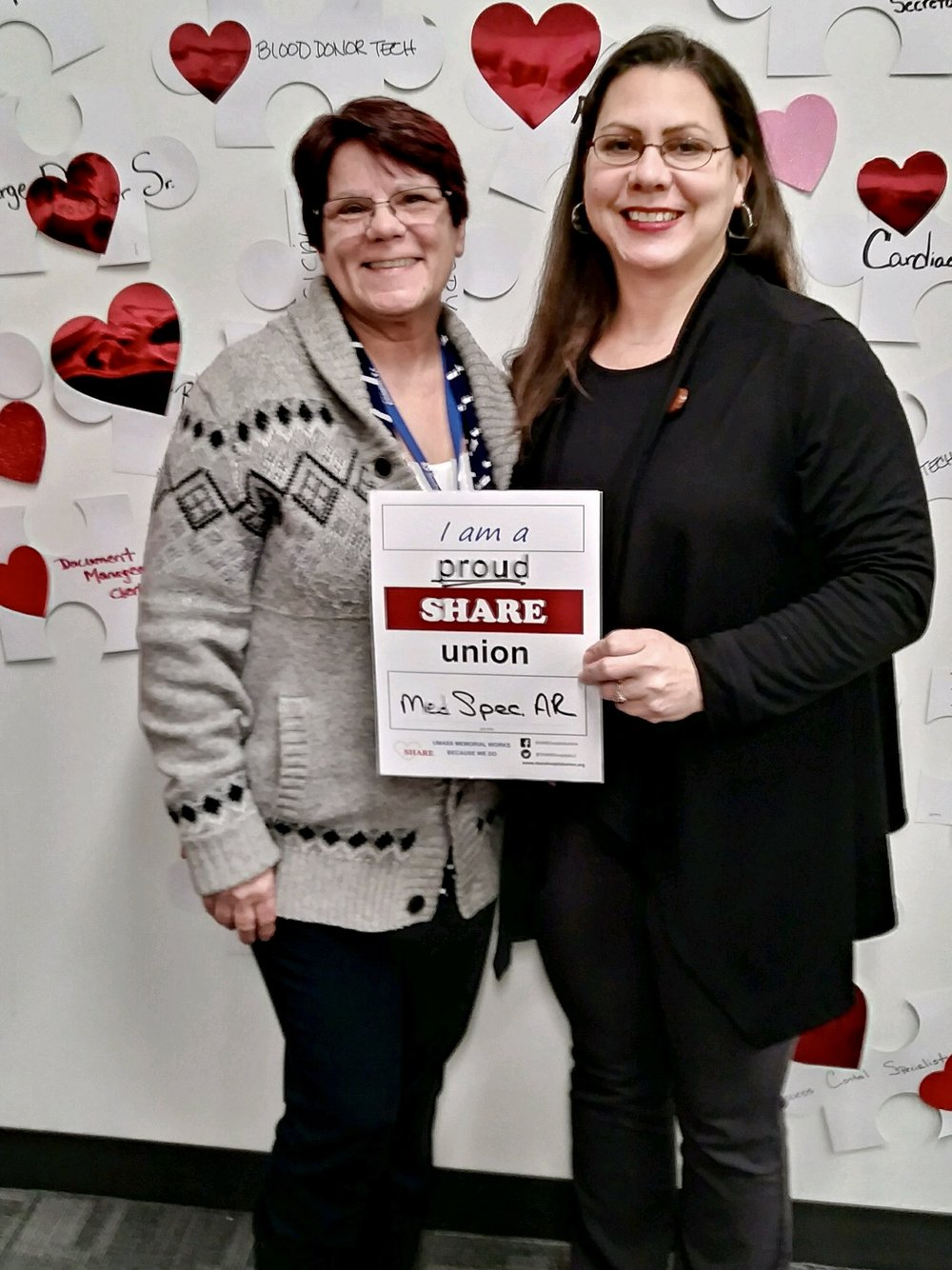 """SHARE members in the Billing departments at 306 Belmont are getting our hospital paid. And they're showing that they're """"SHARE-Proud"""" in support of solid raises."""