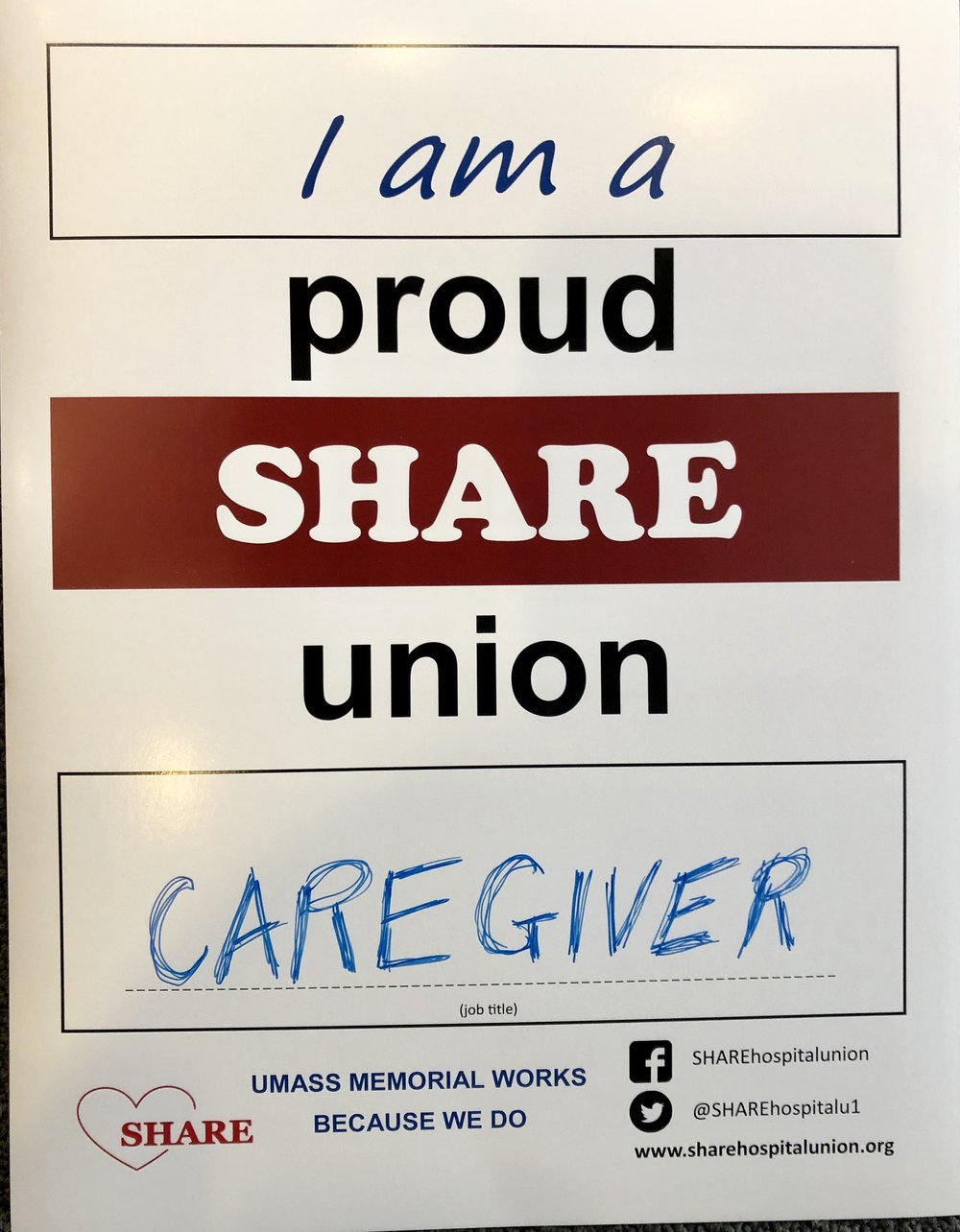 Over 2600 SHARE members in 170 job titles take care of Central Massachusetts