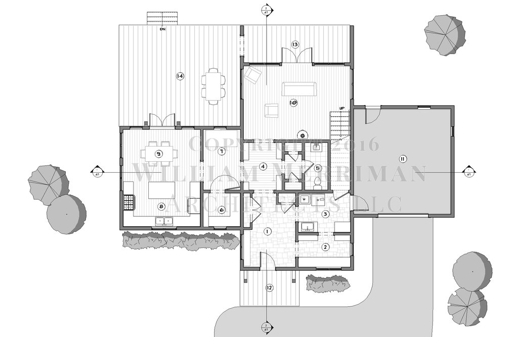 small modern home schematic plans pdf william merriman architects