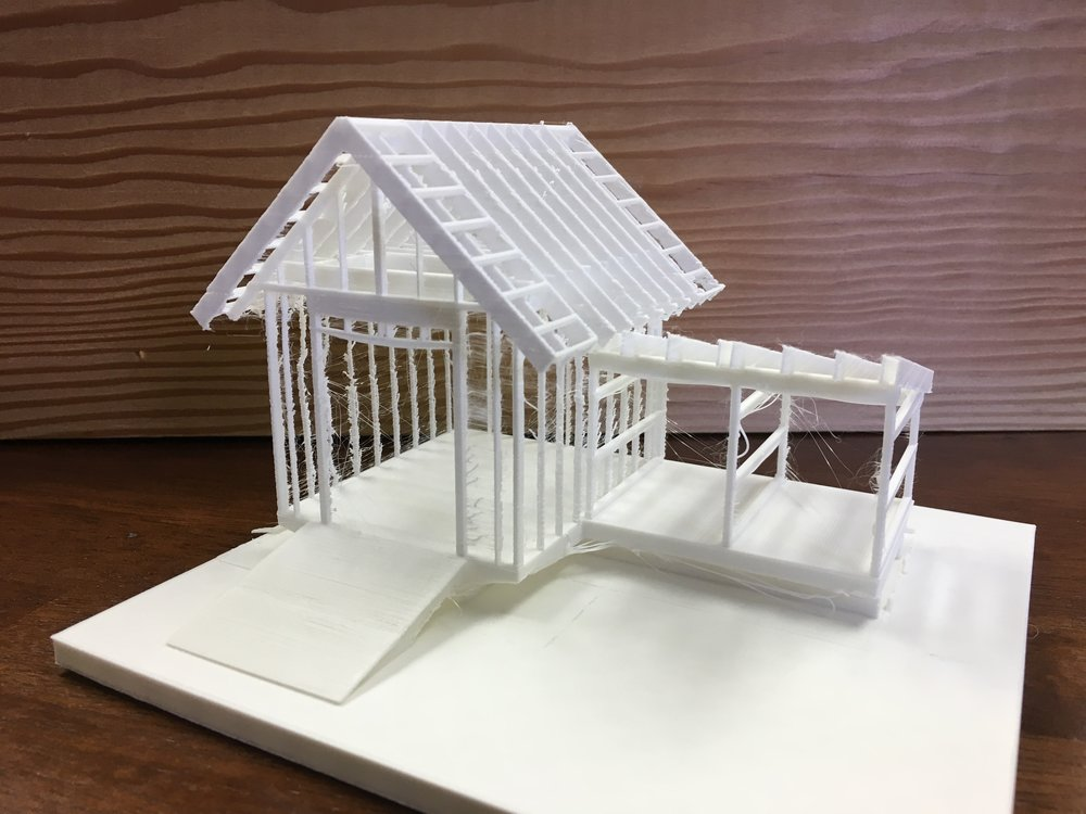3d Printed Framing Model — WILLIAM MERRIMAN ARCHITECTS