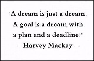 Author of seven New York Times best selling books, businessman, and syndicated columnist Mr. Harvey Mackay said it best ⭐️ Fantasizing is what keeps the passion alive. Executing the plan in an organized timely fashion is what will separate that dream from reality 📆🏃🏿‍♀️ Every one of you deserves the world. Leave the comfort of your mind and GO GET IT 🙋🏻 #thoughtfulthursday #goalsetting #dreamers