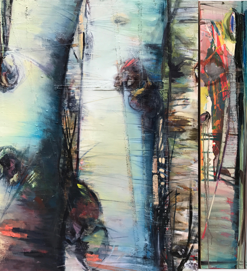 "Reconfigured: Six, oil on panel 36 x 48"""