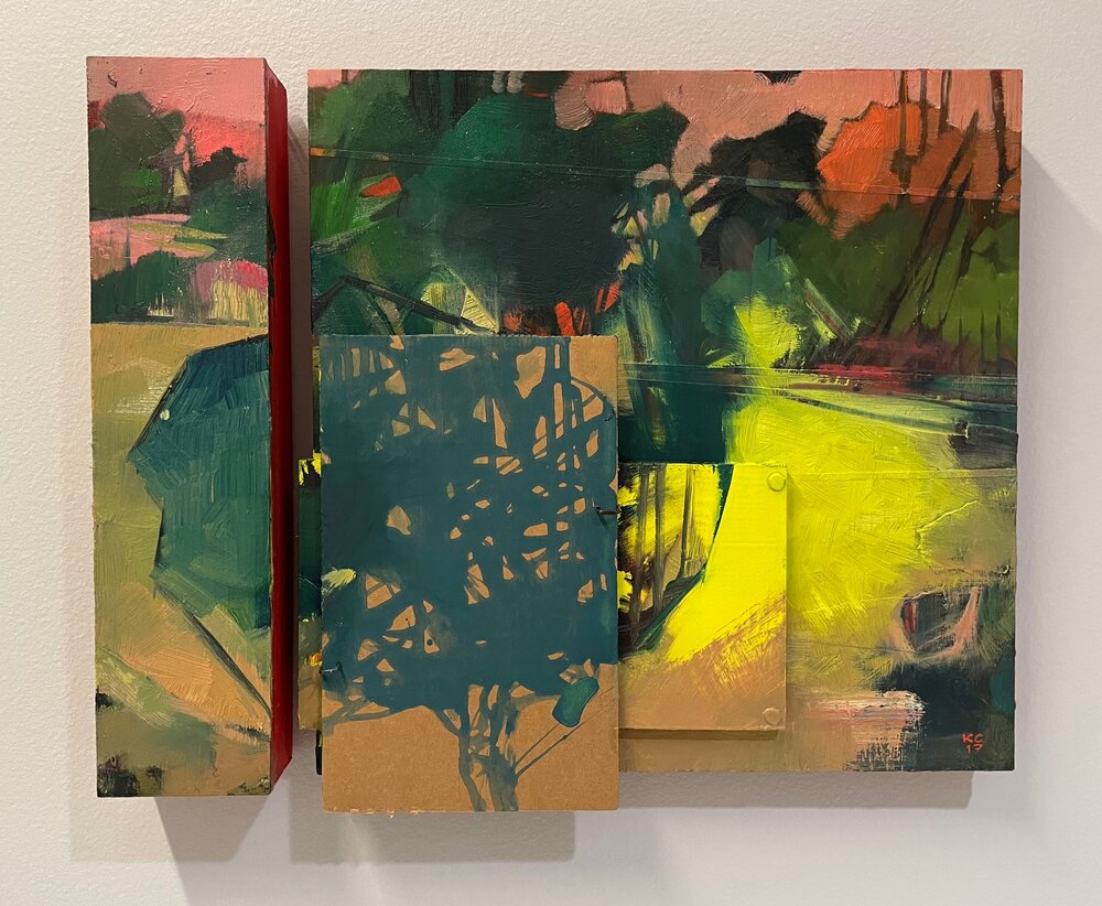"""Reconfigured: Two, oil on two panels, 15 x 12"""""""
