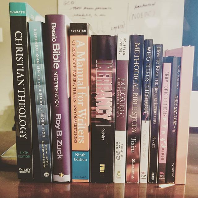 For those if you who don't know, I will be a college student again in the Spring with Dallas Theological Seminary. As such, my current reading backlog is more academic than usual ❤️😍