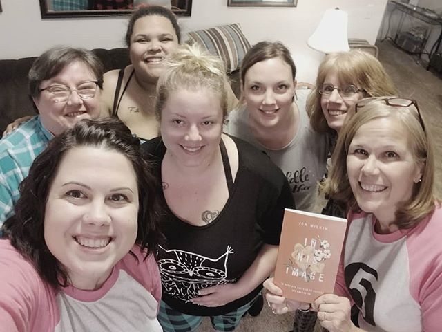 "Had an amazing semester with my Life Group studying ""In His Image"" by @jenwilkin (can't recommend it enough) Love every one of these ladies, can't wait to do it again :) #liveincircles #loveweek5pt"