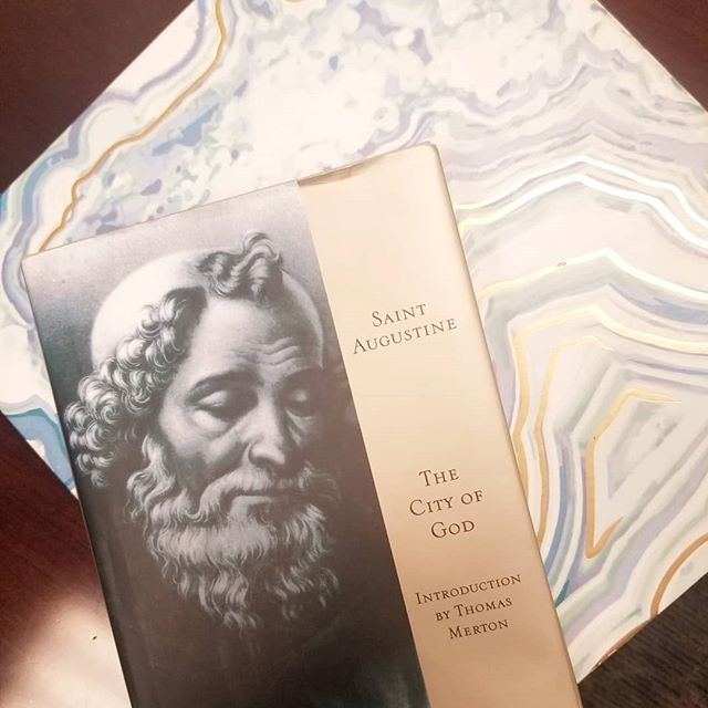 "Few weeks off from school, so tackling a book off of my ""someday"" list. We as Christians live in community, not just with our current peers, but with the vast tradition of faith that stretches back to the beginning. So I'm going to spend some time with one of the most influential church father's: Saint Augustine (354-430 AD)"