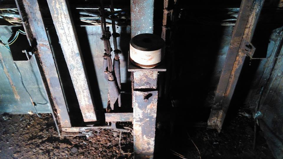 Rusted Lift Shaft