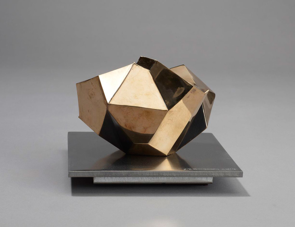 Small Study  – 2014 – 6 x 6 x 5 – Cast Bronze and Stainless Steel