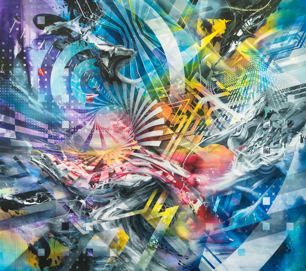 "Ascension   132x168"" 2015 commission for Hyatt Regency Long Beach"
