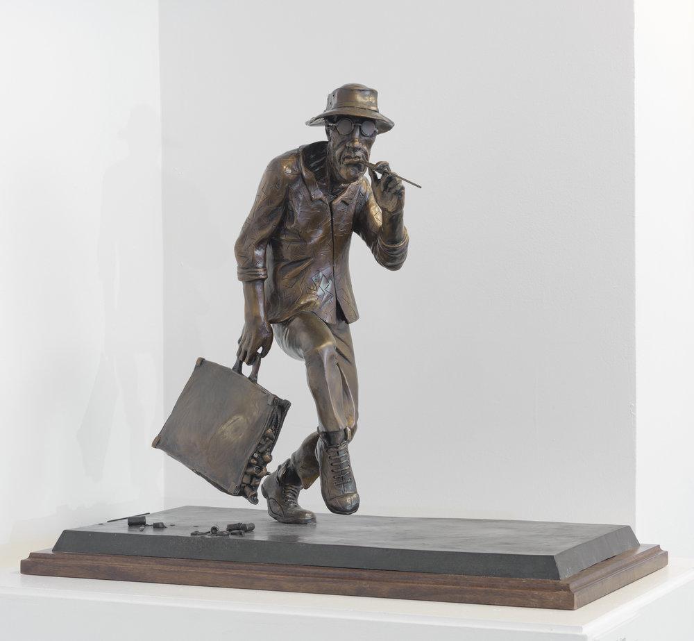 Ralph Steadman,  Vintage Dr. Gonzo , 2015, bronze, 23 in.