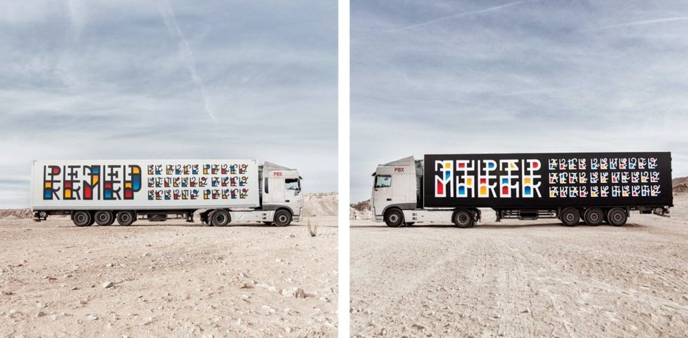 Truck art by Remed, part of the Truck Art Project. Image courtesy   Panci Calvo/ The New York Times.