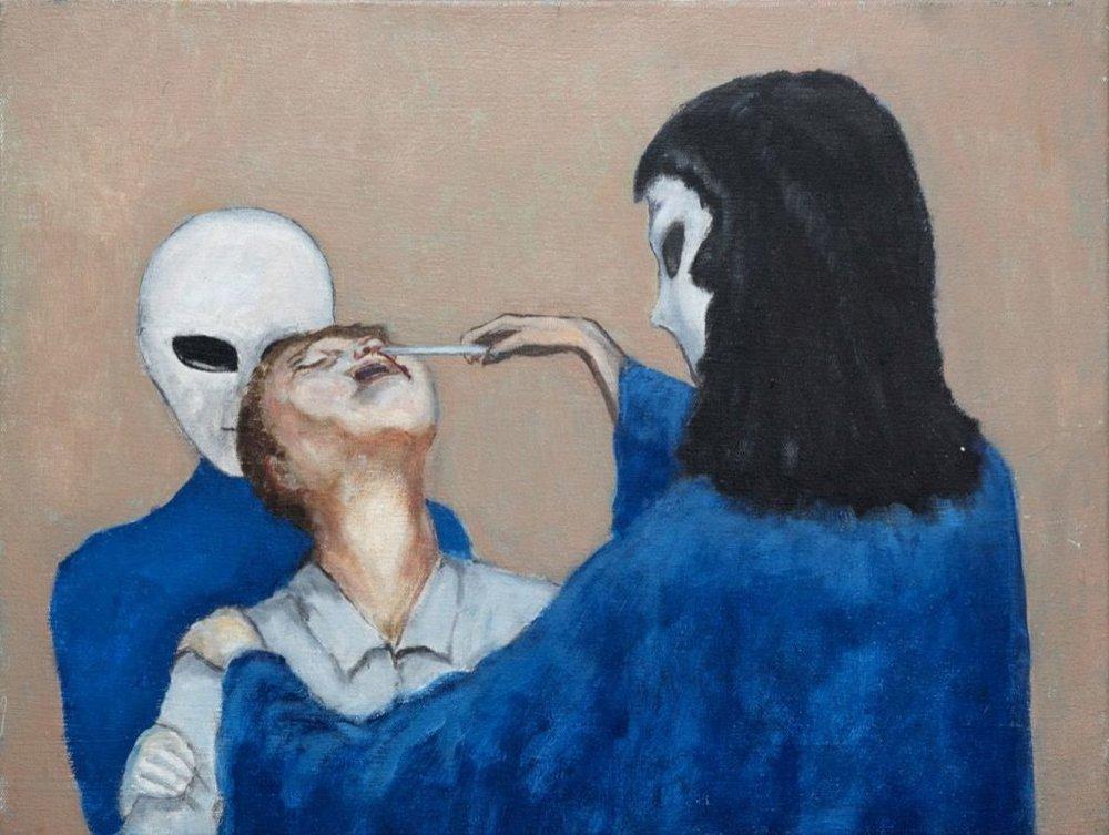 David Huggins, Implant. Image courtesy of  Love & Saucers/Artsy.