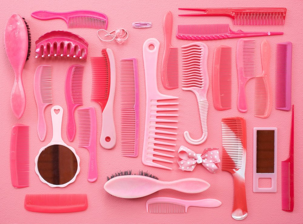 Tom Kiefer,  Pink Combs and Brushes  (2012)