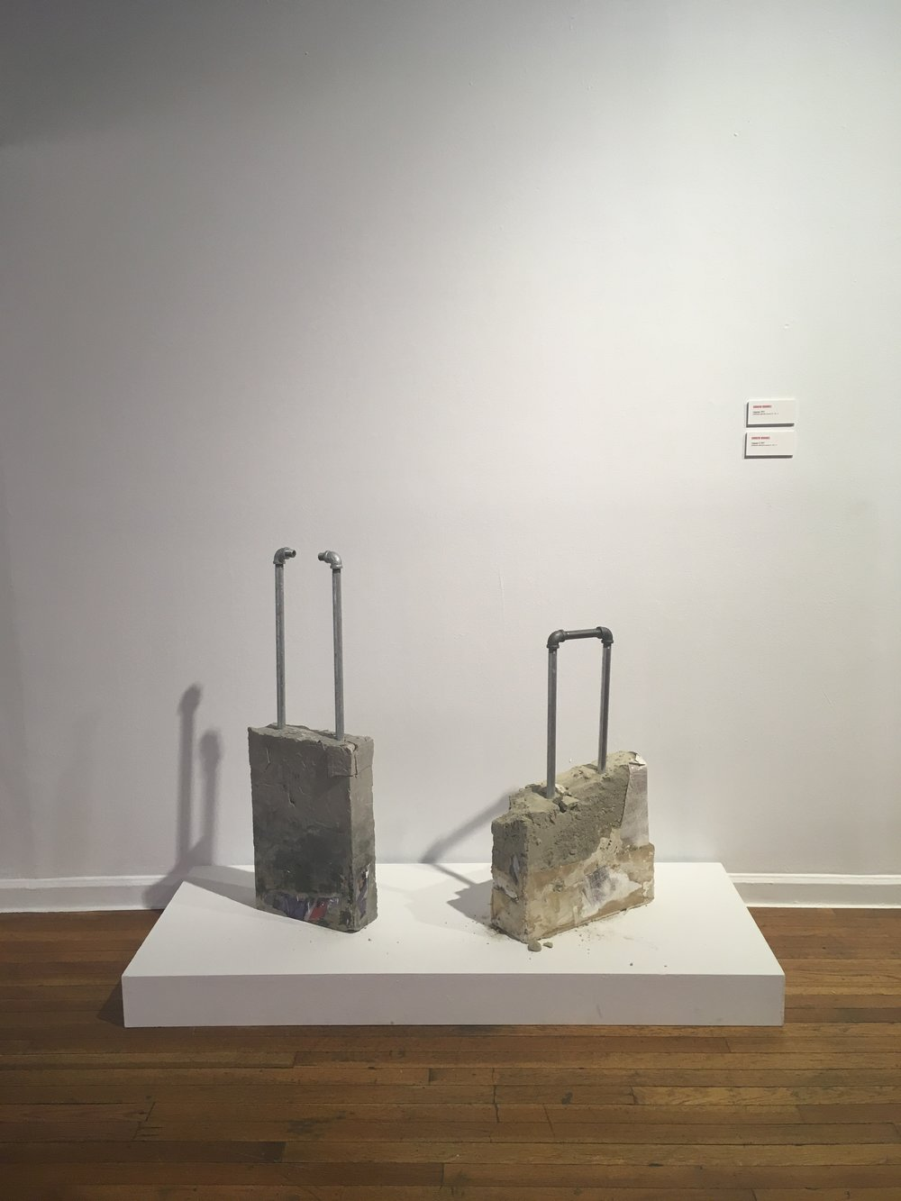 Andrew Ordonez,  Luggage  (2017) and  Luggage II  (2017)