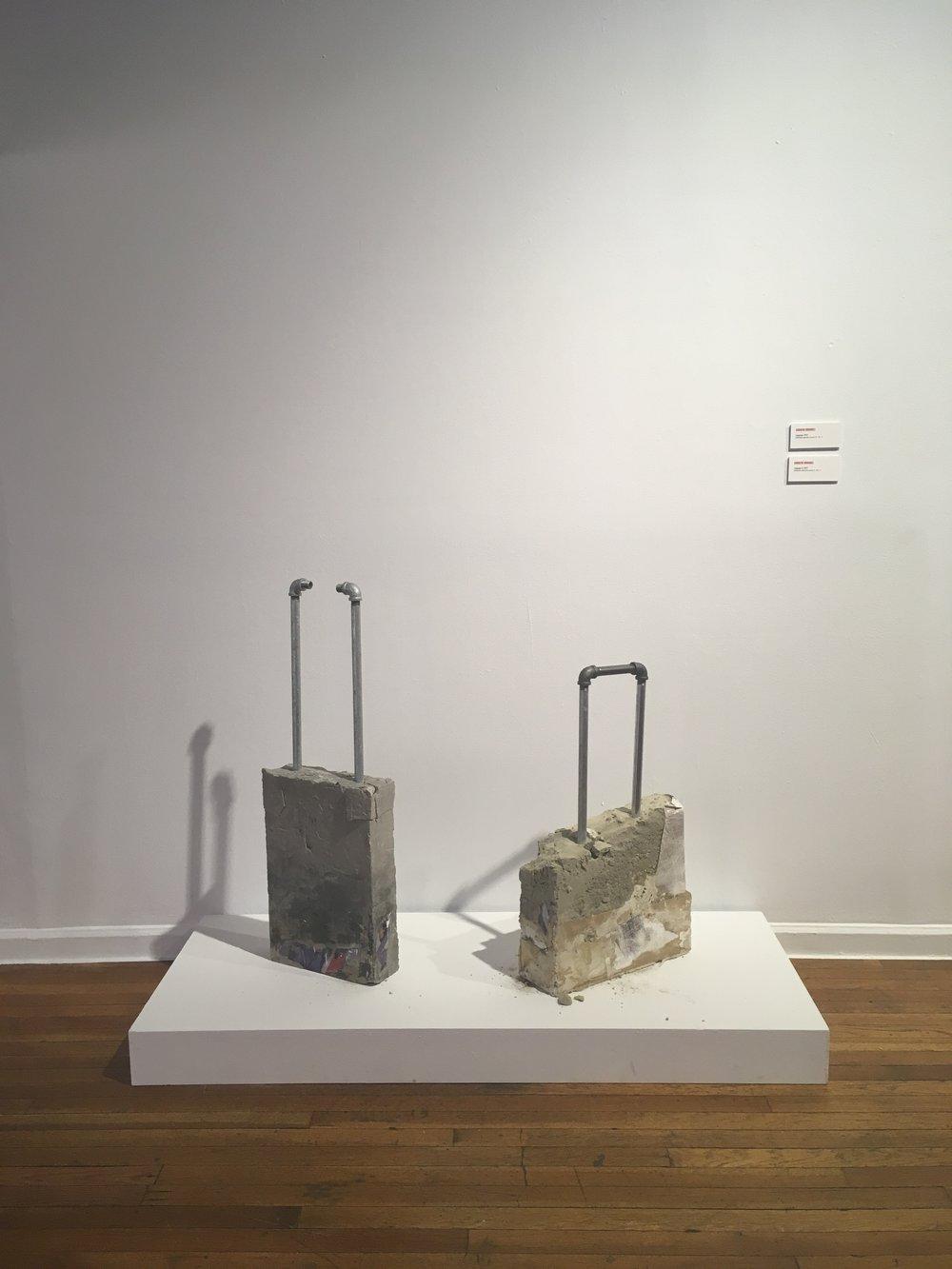 Andrew Ordonez, Luggage  (2017) and  Luggage II  (2017)