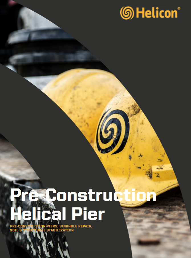 pre-construction helical pier