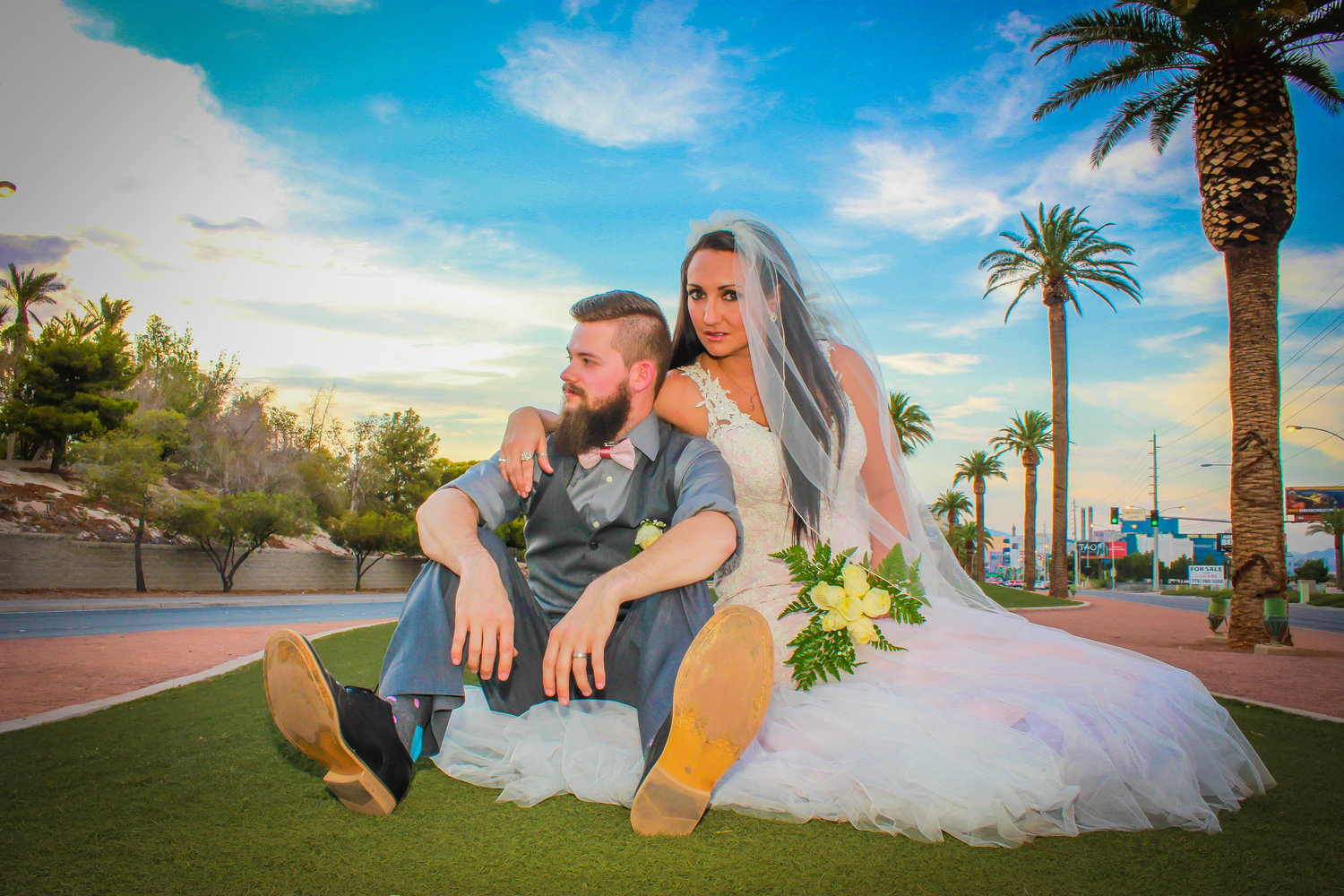 Get Your Glitzy On Las Vegas Photoshoot A Wedding Chapel In Las
