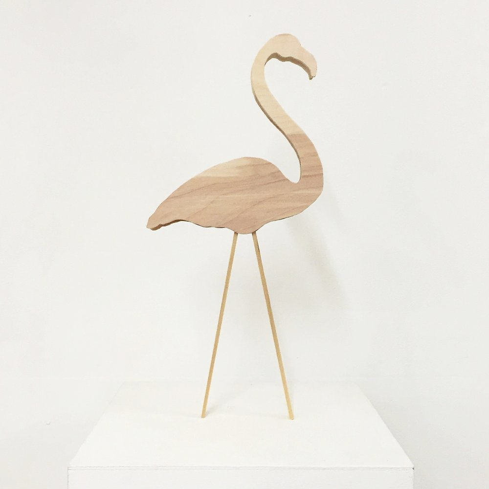 Untitled (flamingo), 2016