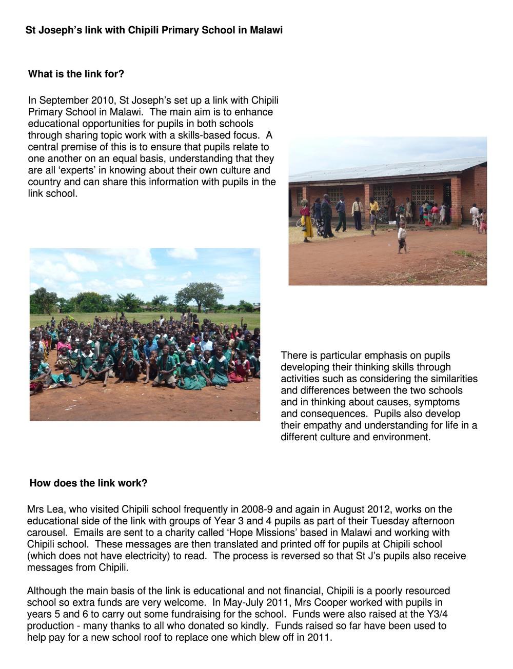 Chipili Primary School, Malawi