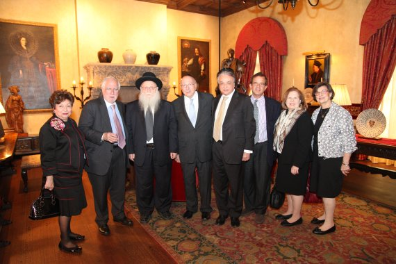 Norma Holzer, Richard Stone, Rabbi Druckman, Rabbi Joseph Karasick, Moran Zamir, Dr. Gerald Platt, Jan Shachter, Marcia Genuth