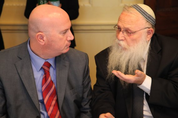 Rabbi Drukman and Avi Balishnikov