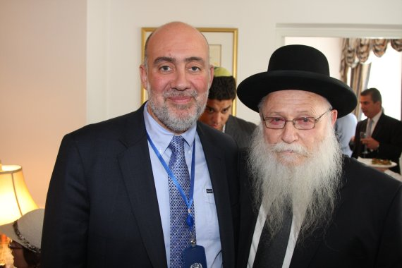 Ambassador Ron Prosor with Rabbi Drukman