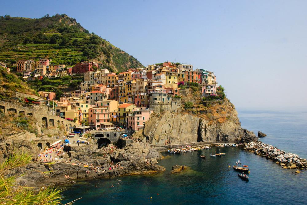 Coastal town, Liguria, Italy