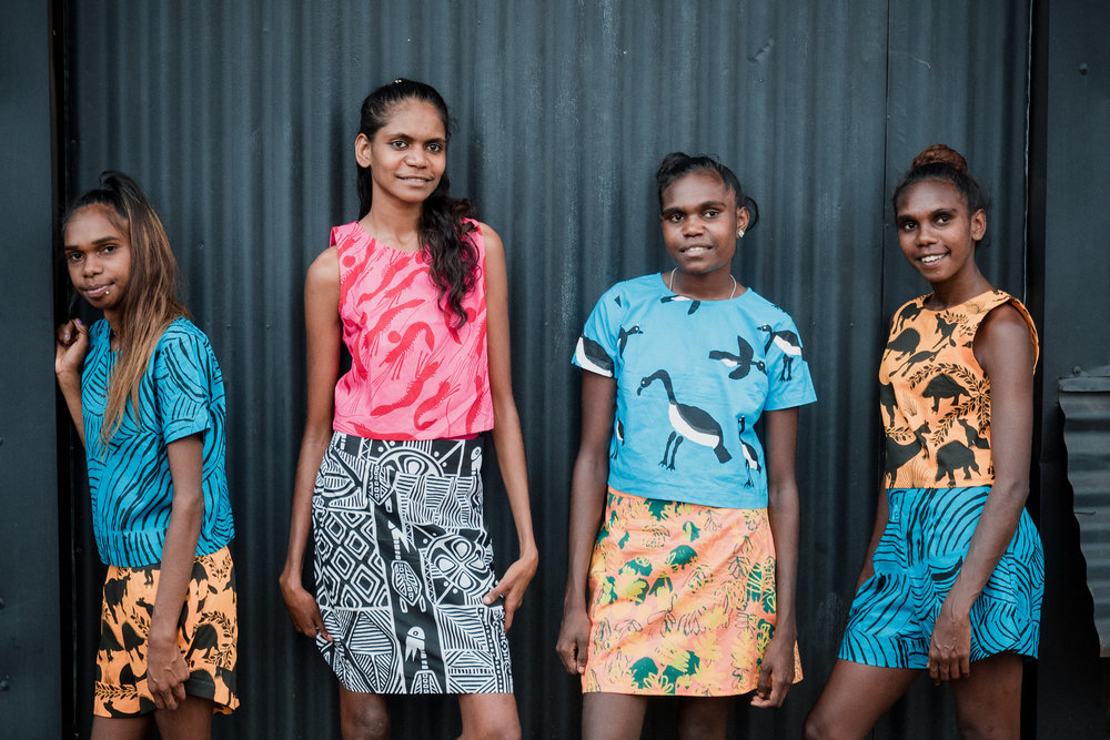 Molly Rex, Jordan Unghango, Trinita Bundamurra, Zerika Clement (Kalumburu). Photo - Maria Fredricks (@KalumburuPhotographyCollective).