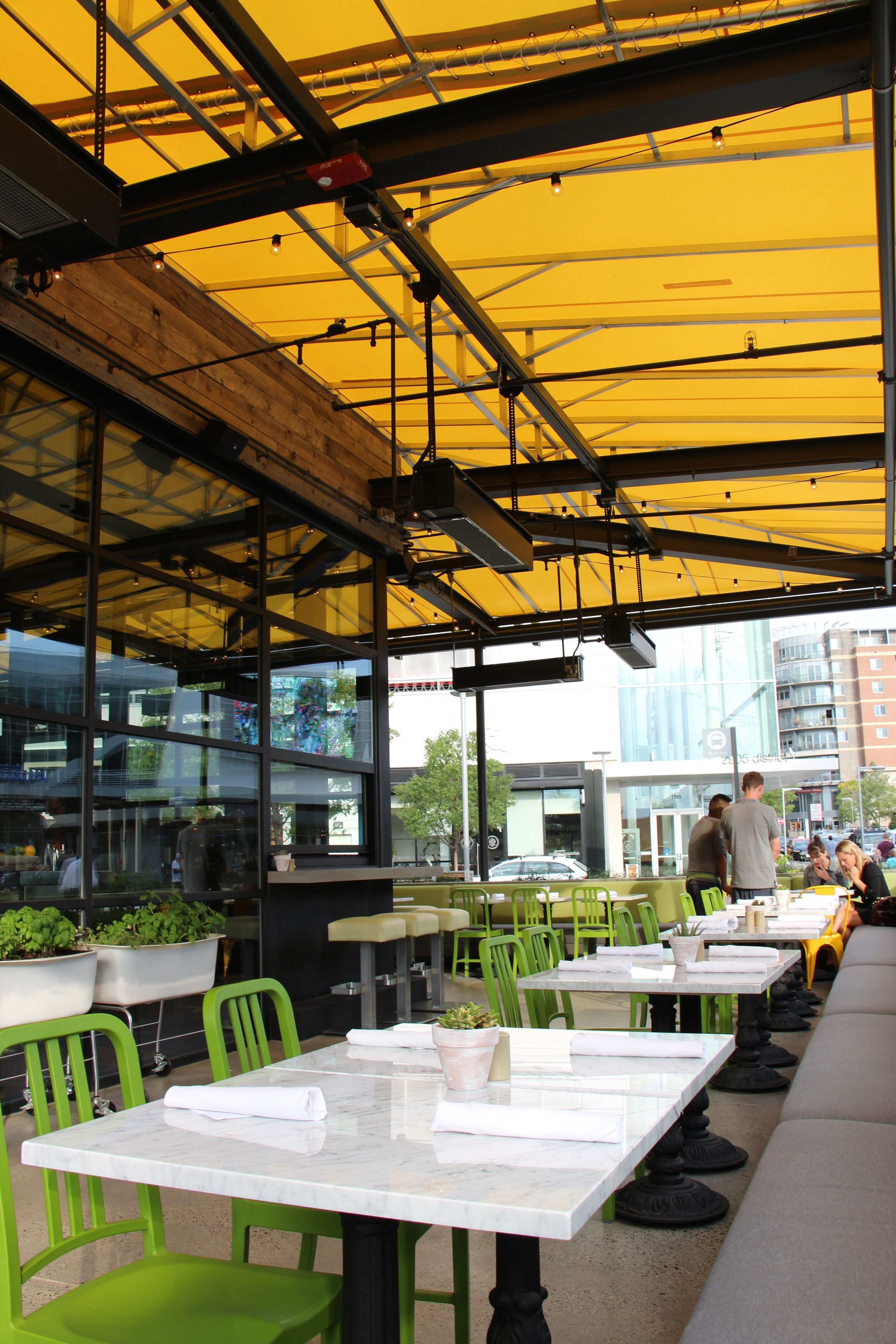 outdoor seating at true food kitchen in the mosaic district - True Food Kitchen Mosaic