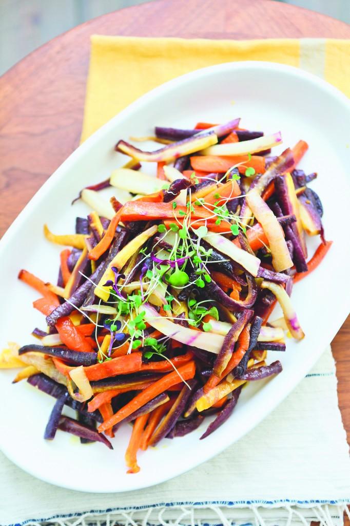Roasted carrots closeup