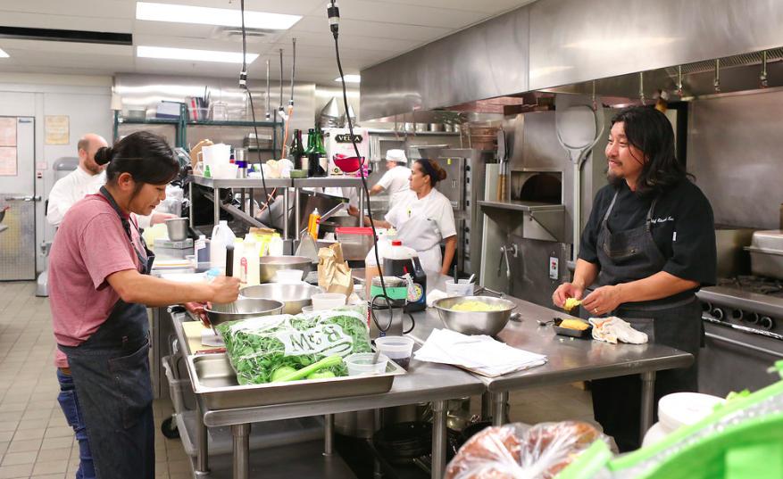 Succotash's Chef Lisa Odom and Edward Lee / Photo courtesy Hannah Hudson Photography