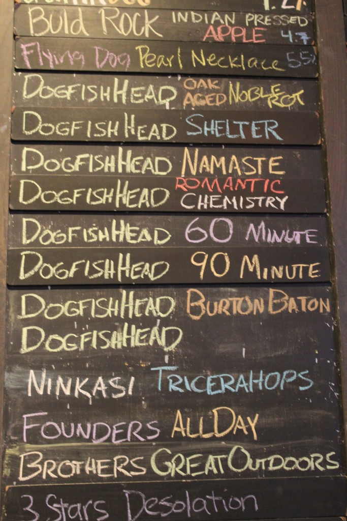 A plethora of Dogfish beers were on tap at World of Beer for the occasion.
