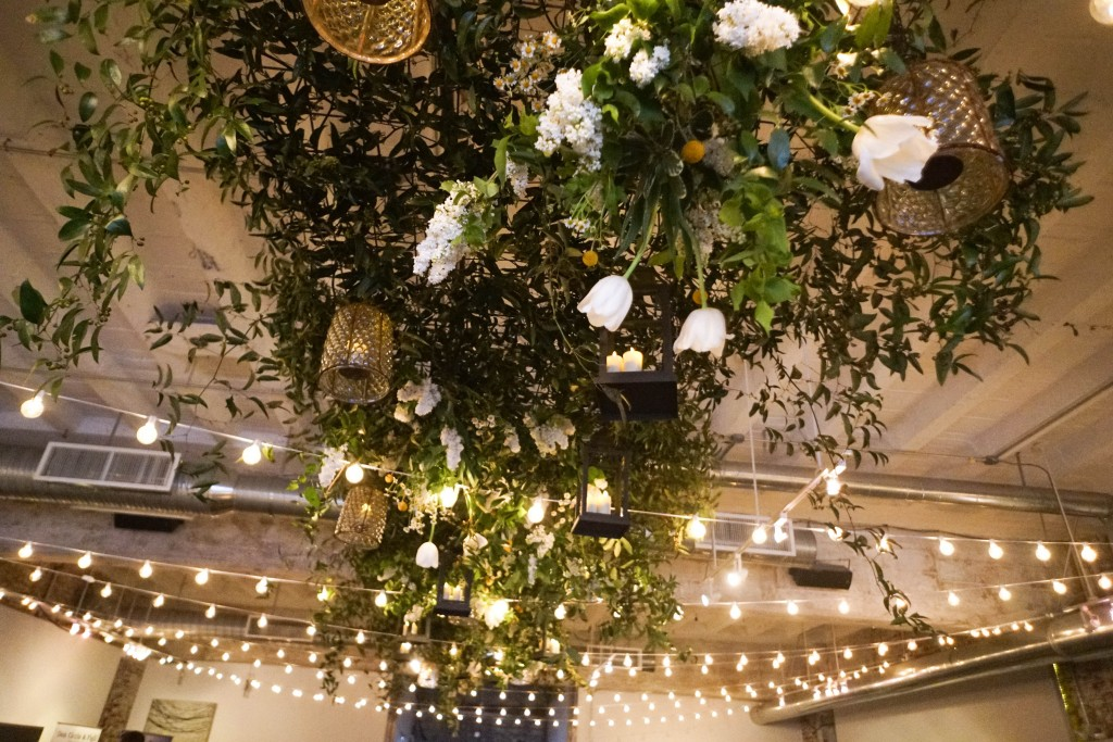 The amazing Long View Gallery was transformed by our event partners -- Heirloom Catering, Amaryllis hanging garden, and Frost Lighting. (Photo by Albert Tin)