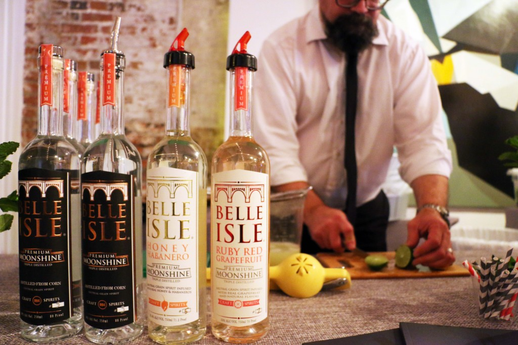 No event is complete without moonshine -- including Richmond based Belle Isle Moonshine. (Photo by January Jai)